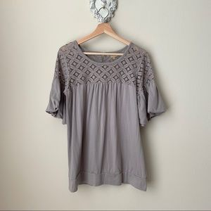 Ella Moss gray blouse